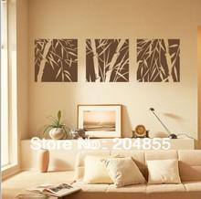 The Bamboo silhouette  Pattern PVC Wall Sticker Home Decor  wall sticker(China (Mainland))