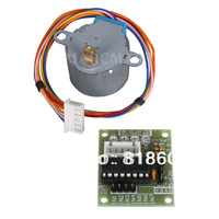 Free shiping 1lot 5V Stepper Motor 28BYJ-48 With Drive Test Module Board ULN2003 5 Line 4 Phase