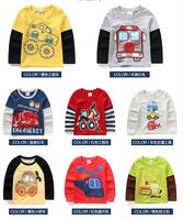 2015 Top sale children t-shirt children cotton t shirts high quality baby boy t-shirts designer kids boys' t shirt ,2-7Y