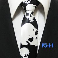 Mens Popular Halloween Festival Holiday Neck Ties For Man Skull Casual Neckties 5CM P5-I-1
