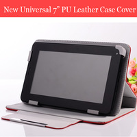 """New Universal PU Leather Case Cover WithTablet Stand Case  for 7"""" Tablet PC MID Multi-angle Viewing,Free Shipping"""