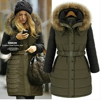 Supernova Sale New arrival fashion thickening outerwear women's wadded faxu fur jacket female cotton-padded medium-long coat
