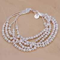 Lose Money!!Wholesale 925 Silver Bracelets & Bangles,925 Silver Fashion Jewelry Muliti beads Bracelet SMTH250