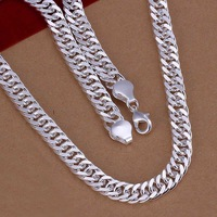 Lose Money!!Wholesale 925 Silver Necklace & Pendant,925 Silver Fashion Jewelry 10mm/20inch Sidyways Necklace SMTN039