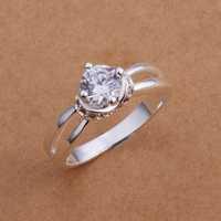 Lose Money!!Wholesale 925 Silver Ring,925 Silver Fashion Jewelry Austria Crystal Fashion Ring SMTR186