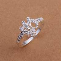 Lose Money!!Wholesale 925 Silver Ring,925 Silver Fashion Jewelry Austria Crystal Fashion Ring SMTR200