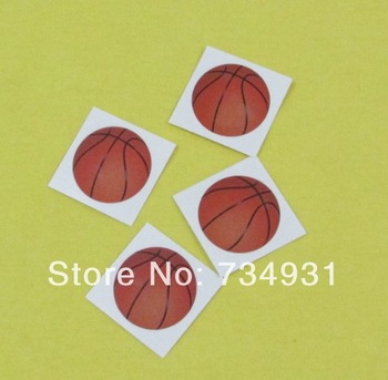 Water Transfer Temporary Tatoo Sticker 4x4cm Face Basketball Tattoo