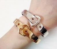 2013 Latest trendy belt style cuff  bracelets for women gold bracelets