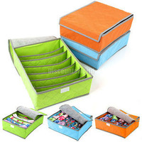 Home Storage Boxes For Underwear Socks Ties Bra Closet Divider Storage Box With Cover Organizer Container Case