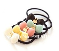 4228 candy color rabbit bow hair accessory solid color headband hair rope tousheng hair accessory