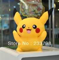 Free shipping  40cm Soft Stuffed toys Pikachu pokemon Plush Toy  for children &girls  happy birthday  gift happy christmas gift