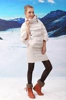 Luxury Women White/Black Down Coat Brand Thickening Winter Jacket White Duck Winter Overcoat for Women