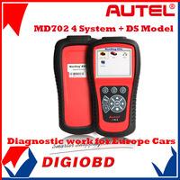 AUTEL MaxiDiag Elite MD702 4 System + DS Model OBDII Code Reader MD 702 Engine + Transmission + ABS + Airbag for Europe Vehicles