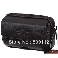 Gold coral male genuine leather waist pack male strap mobile phone bag male belt bag