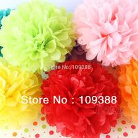 "Free Shipping 30 pieces/lot 8"" 20cm Wedding Party Tissue Paper Pompoms Flower Balls Home Decor, Mix colors uPick"