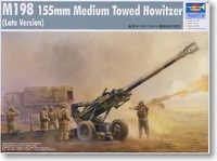 Trumpeter Model 1 / 35 U.S. M198 (155-MM) howitzer Late Model 02319 Military simulation assembly model toys 205pcs 35cm