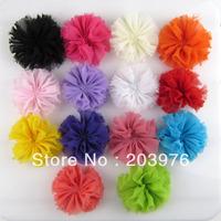 "New 50pcs/lot  Vintage Chiffon Shabby Flowers - Size 2.8 "" -  DIY Hair Accessories Supplies"
