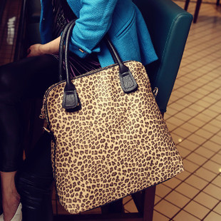 Free Shipping 0300 new 2014  Cat bag leopard print bag messenger bag women's  handbag