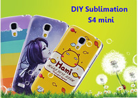 S4 mini DIY sublimation case for Galaxy S4 mini i9190  with metal sheet plate and Glue  DHL free shipping 100pcs/lot