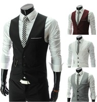 Wholesale! Free shipping 2013 new high quality sportsman Slim V-neck vest