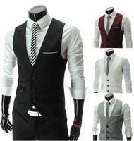 Wholesale! Free shipping 2013 new high quality sportsman Slim V-neck vest