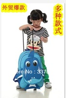 Foreign trade of the original single, small animal models of child cartoon trolley dual burdens schoolbag / can be pulled to the
