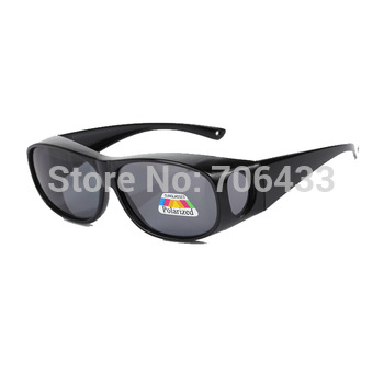 Free dropshipping Unisex 2013 Fashion Polarized sunglasses women Cover for optical ...