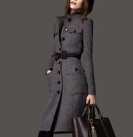 2013 winter fashion women's slim medium-long plus size cashmere overcoat woolen outerwear Wool Blends Coat