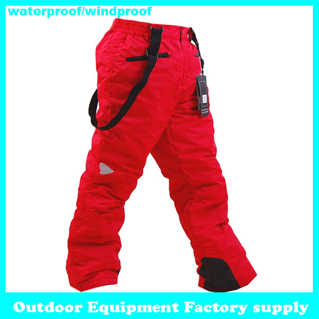2013 new dropshipping colorful winter snow kids pants outdoor windproof waterproof ski pants ski trousers for the children(China (Mainland))