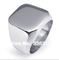 RA-122259 shiny Silver Stainless Steel rings men fashion brand plain ring U.S. SIZE 7 8 9 10 11 12 13 14 15