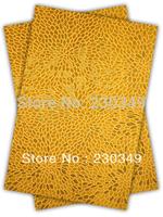 Free shippig African headtie,Head Gear, Sego Gele&Ipele,Head Tie & Wrapper, 2pcs/set ,GOLD