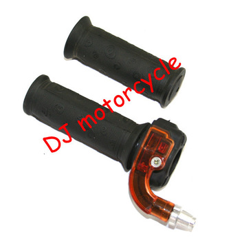 Free shipping throttle handle grips set for 47cc 49cc pocket bike  2storke dirt bike grips   Mini Quad throttle cheap