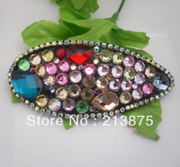 New! Hot! Inlay many colors rhinestone Handmade Pretty Hairwear 4# Free shipping