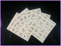 50 PCS / LOT Nail Art Water Transfers Stickers SY Metallic Gold Zipper Chain Skull,Xmas, Holloween ,Estern Nail Decals Stickers