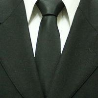 Mens Popular Black Solid Neckties For Men Business Plain Wedding Groom Neckties Wide Gravatas 8CM F8-E-1