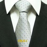 Mens Polka Dots Popular Gray Ties For Men Business Spot Wedding Groom Neckties Wide 10CM F10-B-1
