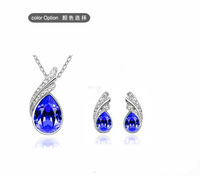 Korean fashion simple and elegant sparkling originality of the new crystal jewelry   set  S022  wholesale FREE SHIPPING