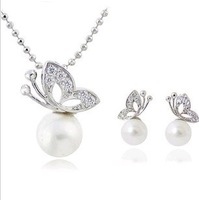 Min Order$15 Free Shipping  fashion jewelry set, trend jewelry set,Pearl jewelry set incluing necklace& earring  for women