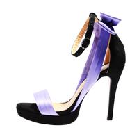 new arrive fashion  high heel  sandals  Waterproof  shoes   Elegant   Satin  Purple  party  wedding shoes  size 35-42