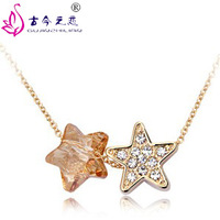 Free Shipping 2013 New Arrived Hot SaleThe stars of the Austrian Nighthaven short chain necklace female Korean fashion jewelry