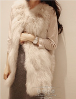2013 new autumn&winter Korea Fashion Faux Fur vest Rabbit Hair Lady Short Warm Coat Jacket Fluffy Outwear parka