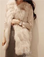 2014 new autumn&winter Korea Fashion Faux Fur vest Rabbit Hair Lady Short Warm Coat Jacket Fluffy Outwear parka