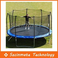 Free shipping 10Ft Outdoor Trampoline Jumping Bed With Fence Guardrail