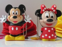 Lovely! Real 8GB 4GB 2GB For Mickey Cartoon Shaped USB 2.0 Flash Pen Drive Disk Stick Drives Sticks Pendrives Thumbdrive
