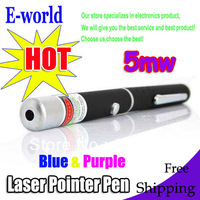 Fashion DHL free shipping blue violet laser pen,wholesale 50pcs/lot 5mw blue/purple 405nm laser pointer,mix order