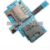 SIM card holder Tray Slot Flex Cable For Samsung Galaxy S i9000 i9001 i9008 memory card connector flex free shipping