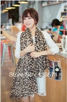 New Korean winter female leopard scarf shawl super long chiffon scarves Korean version of the original single free shipping
