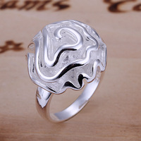 Free Shipping Wholesale Sterling 925 Silver Ring,925 Silver Fashion Jewelry Ring,Rose Ring SMTR005