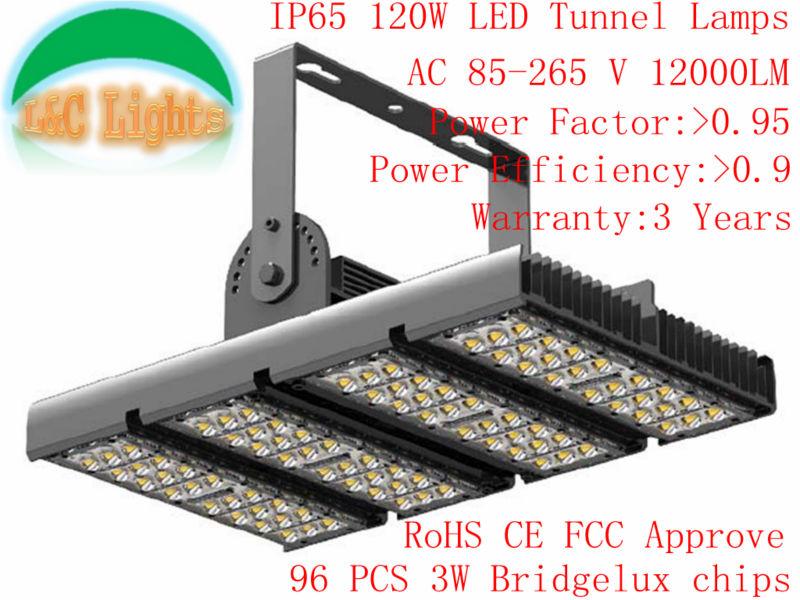 120W Floodlights AC85-265V 96Pcs LEDs High Quality Super Bright LED Tunnel lights IP65 Waterproof Bay Light Warranty 3 Years(China (Mainland))