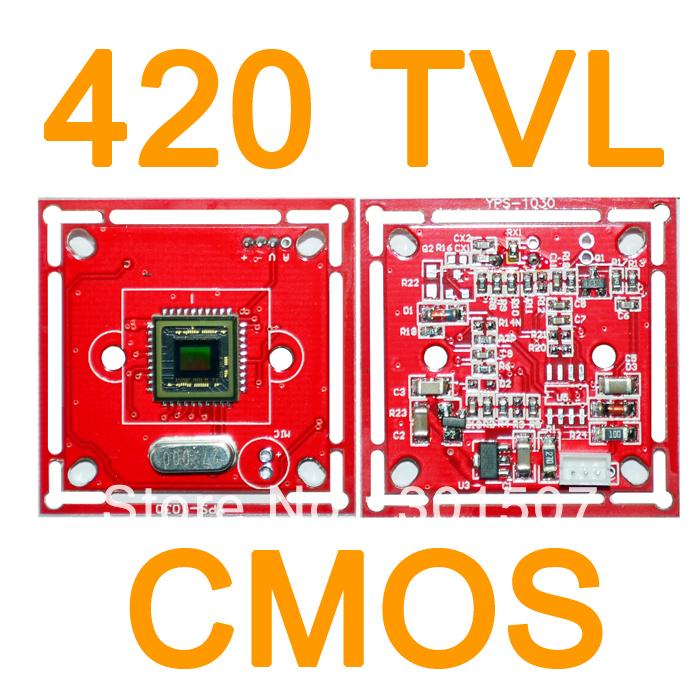 """3.6mm lens 420TVL 1/4"""" CMOS Color Camera PCB Board CCTV cameras Module + 5pin Cable(China (Mainland))"""